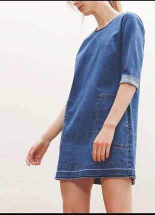 Стильное джинсовое платье, платье из денима