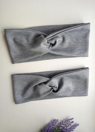 Повязка чалма трикотаж детские повязочки узелок ободок для волос