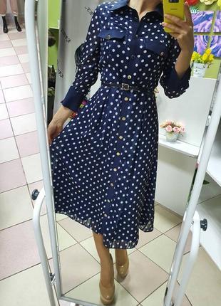Шикарное шифоновое платье 👗