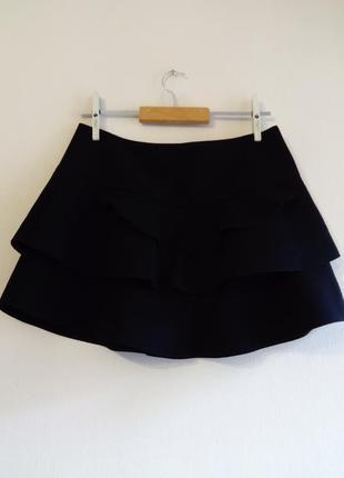 Короткая юбка с воланами zara