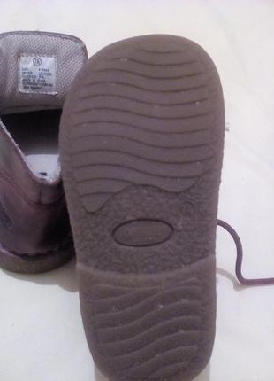Кожаные демисезонные ботинки4 фото