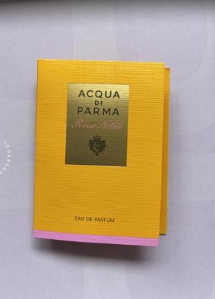 Acqua di parma/rosa nobile/нішева парфумерія/парфуми з розою/італійська парфумерія