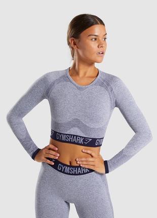 Спортивный комплект gymshark flex navy blue