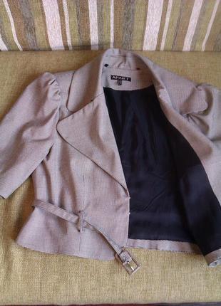 Стильный укороченный пиджак с пояском xxl