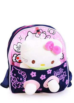 Текстильный рюкзак хелоу китти