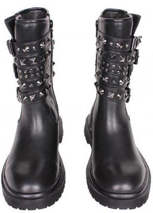 Брендовые трендовые кожаные ботинки-сапоги guess,оригинал