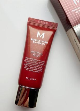 Missha m perfect cover bb cream spf42 самый популярный бб крем 20 мл