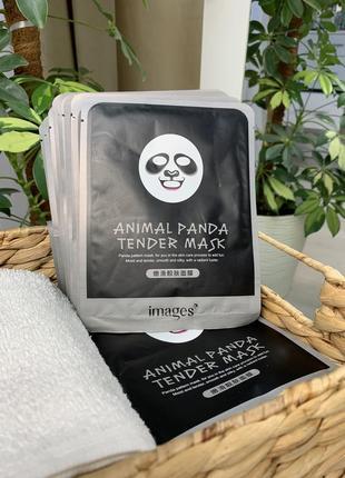 Популярная images новая тканевая маска для лица панда (30g)