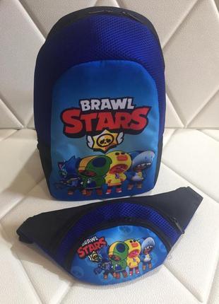 Рюкзак и сумочка через плечо brawl stars
