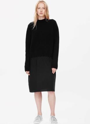 Стильное тепле платье cos шерсть+шёлк