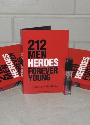 Carolina herrera 212 heroes men пробник для мужчин оригинал