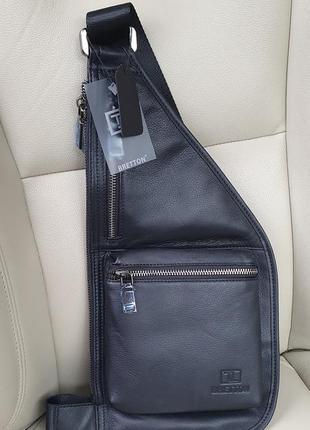 Шкіряна чоловіча сумка-рюкзак bretton