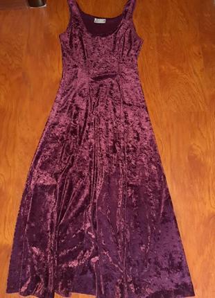 Платье бархатное велюровое