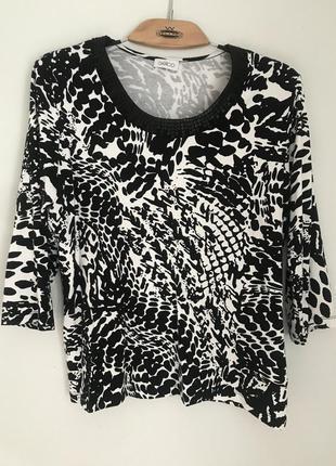 Новая трикотажная  блуза  с кожаными пайетками джемпер  лонгслив  германия gelco p. 42/xl