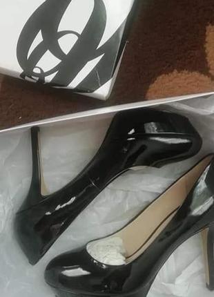 Туфли натуральная кожа лак nine west