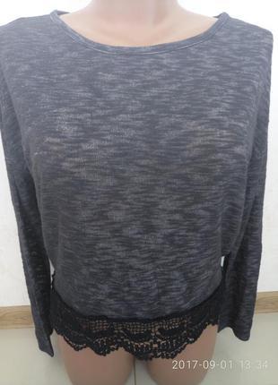 Шикарный свитерок с кружевом