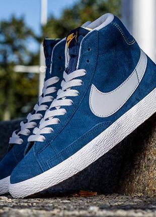 Nike blazer осенние кожаные кроссовки сникерсы оригинал 36-37 размер