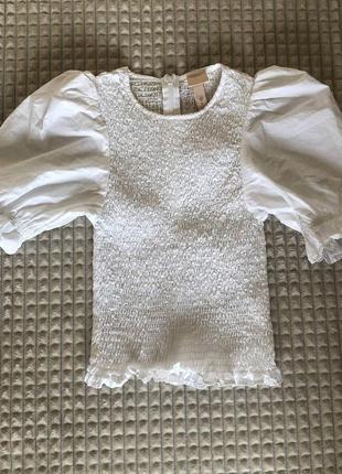 Блуза с рукавами пуфф/фонариками h&m