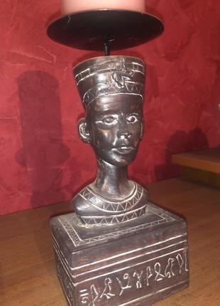 Подсвечник нефертити. винтаж 80гг пр-во египет
