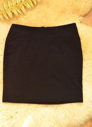 Мини юбочка черного цвета new look