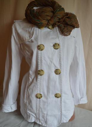 Куртка белая коттоновая
