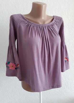 Легкая вискозная  блузка  - вышиванка