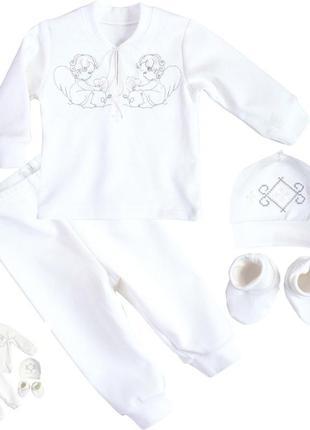 Комплект одягу костюмчик для хрещення хрестин одежда  для крещения