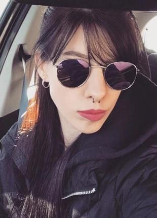 Солнцезащитные очки round с фиолетовыми линзами-хамелеонами