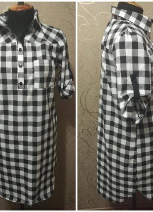Платье- рубашка, есть большие размеры, хлопок