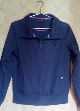 Лёгкая котоновая куртка ветровка puma
