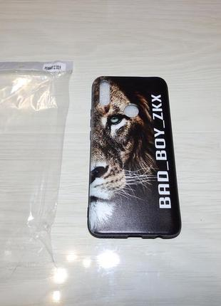 Чехол для huawei p smart z 2019 bad boy zkx лев