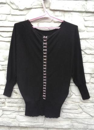 Распродажа!!! много скидок!!! классный, черный свитерок летучая мышь mint velvet