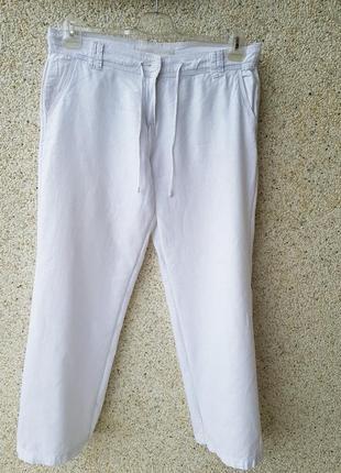 Льняные штаны палаццо