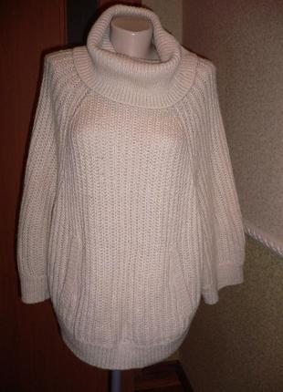 "Вязаная накидка свитер ""oysho"" 42 размера"