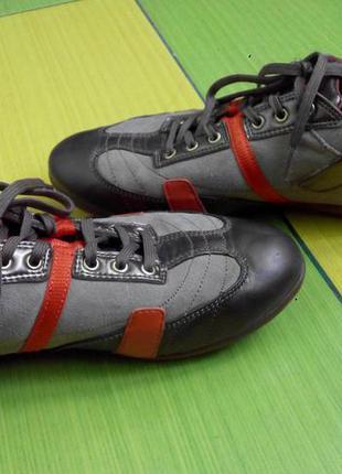 Кожаные кроссовки geox respira 37 р-р оригинал мембрана кожа