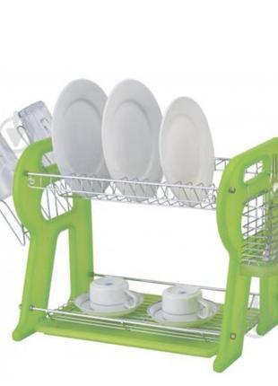 Найкраща сушка для посуду настільна двохрівнева нова