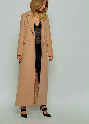 Длинное пальто apart, цвет camel, размер l-xl + подарок