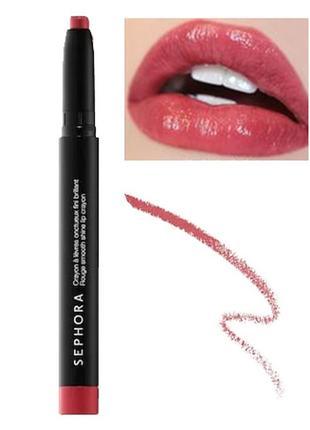 Уценка! помада карандаш sephora collection rouge smooth shine lip crayon