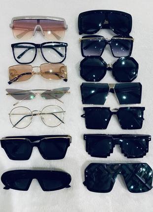 Классические стильные очки винтажные солнцезащитные