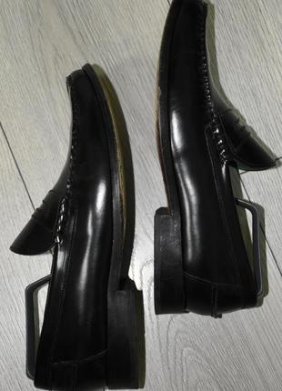 Кожаные туфли мокасины лоферы marks & spencer оригинал размер 43-44 стелька 28 см