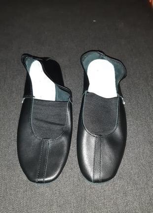 Кожаные чешки балетки для танцев matita 35р. 22.5см по стельке1 фото