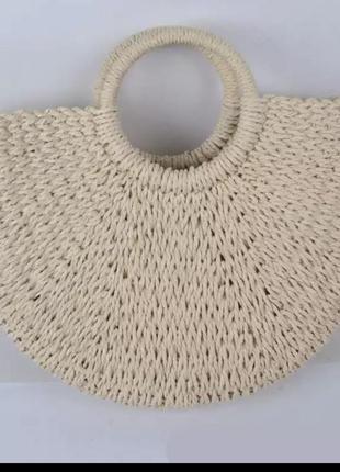 Летняя плетёная сумка