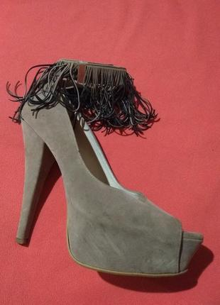 Туфли с бахромой