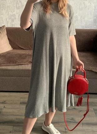 Платье стильное серое gap