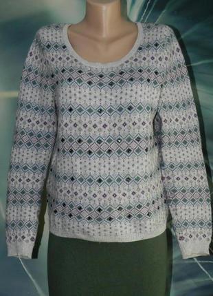 Красивый свитер, шерсть альпака в составе, в отличном состоянии