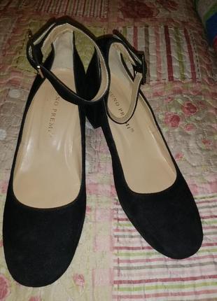 Итальянские замшевые туфли bruno premi