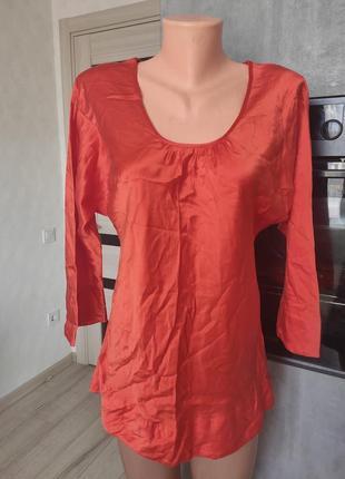 Блуза з натурального атласного шовку. 100/ pure silk!!! 🔥