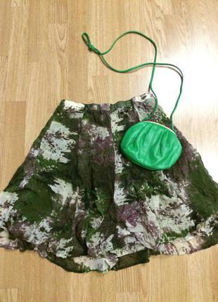 Крутая пышная зеленая юбка nile clothing(швейцария),юбочка+подарок ремешок