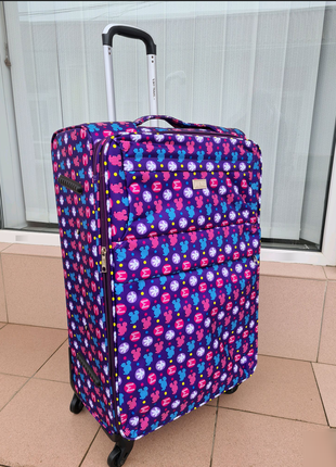 Sky travel q-013 чемодан большой 4 колеса черный микки маус