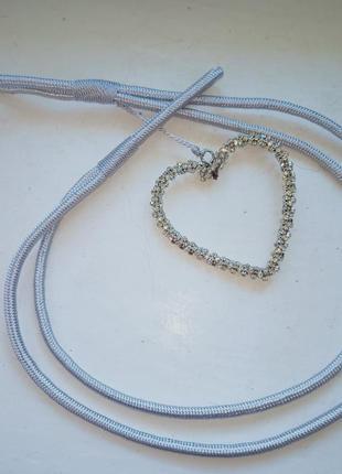 Подвязка для штор. прихватка . шикарная подвязка с камушками в виде сердца